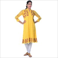 Yellow Georgette Anarkali
