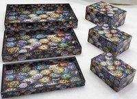 Wood Resin Printed Tray Tissue Box Sets