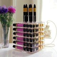 Lifewit Acrylic 81 Slot Rotating Cosmetic Organizer