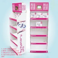Cardboard Counter Display With 7 Inch Lcd Screen