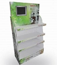 Folding Cardboard Display Shelves With Touch Screen