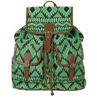 Green Jacquard Fabric Ladies Backpacks