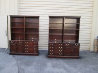 Pair Councill Baker Office File Crednza Cabinet With Bookcase