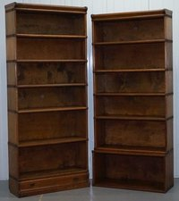 Solid Oak Stacking Bookcases