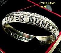 Name Printed Silver Kada