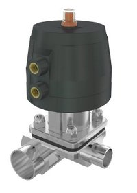 User Point Diaphragm Valve Forged Stainless Steel Body Pneumatically Operated