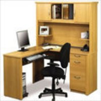 Modular Wooden Office Table And File Cabinets