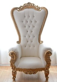 High Back Gold Throne Chairs