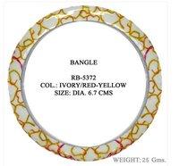 Print Design Resin And Metal Bangle