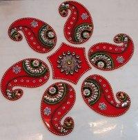 Colorful Handmade Acrylic Rangoli