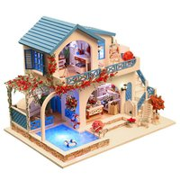 Low MOQ Children Toy Wooden Doll House DIY