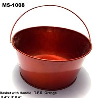 Basket With Handle T.P.R. Orange