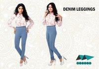 Designer Denim Leggings