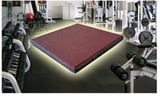 10 To 50mm Square Gym Rubber Tiles