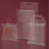 Clear Plastic Rectangular Round Hanger Boxes