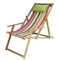 Wooden Deck Beach Chair Lounger