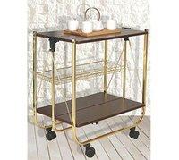 Foldable Kitchen Trolley Golden Frame