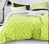 Swiss Living Plain Design 100% Cotton Double Bed Sheet 400 Tc