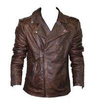 Wash Leather Biker Jacket