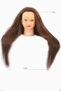 Professional 31 Inch Long Remi Human Hair Dummy
