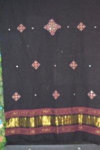 Ladies Black Designer Shawl