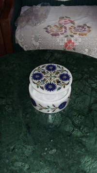 Marble Inlay Box Jewelry Box