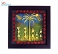 Wall Hanging Paper Mache Tribal Painting- Hspm012