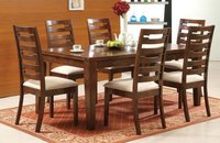6 Seater Carved Wood Dining Tables