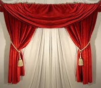Plain Red Door Curtains