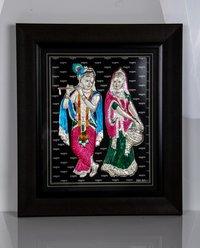 Decorative Pure Silver Radha Krishna Frame