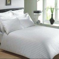 Hotel Linen White Stripes Bedsheets