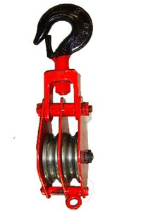 Rope Pulley Block Double Sheeve