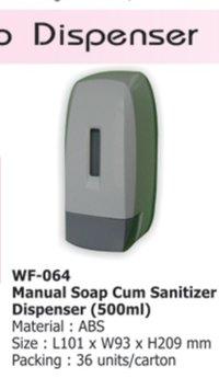 Manual Soap Cum Sanitizer Dispensers