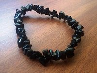 Black Tourmaline Chips Stone Bracelet