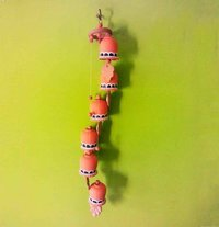 Handmade Terracotta Wind Chimes With 6 Bells