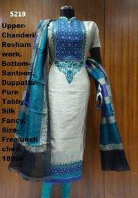 Chanderi Tabby Silk Dupatta With Fancy Suit in Delhi