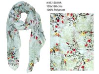 Pure Polyester Floral Printed Stoles