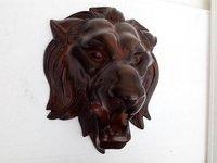 Big Lion Head Decorative Statue