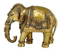 Brass Metal Elephant Figurine