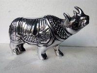 Decorative Black Metal Rhinos Statue
