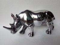 Metal Unique Rhino Statue