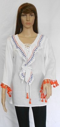 Rayon Crepe Latest Fashion Strap Design Tops