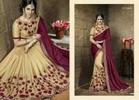 Designer Georgette Sarees With Fancy Blouse