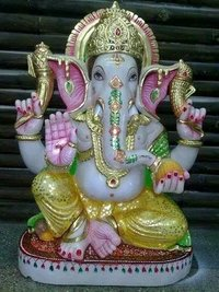 Lord Ganesha Marble Statues