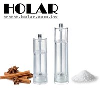 Clear Plastic Salt And Pepper Mill With Ceramic Grinder