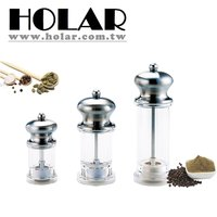 Salt Pepper Grinder With Clear Acrylic Body