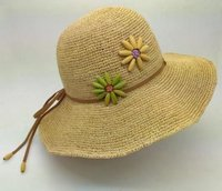 Women Fashion Wide Brim Raffia Straw Hat