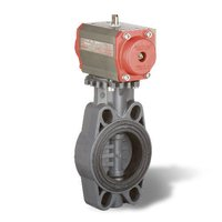 Upvc Actuated Butterfly Valve