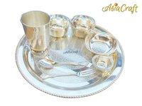 Silver Plated Brass Dinner Set