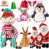 Christmas Singing Stuffed Animal Reindeer Santa Claus Penguin Toy